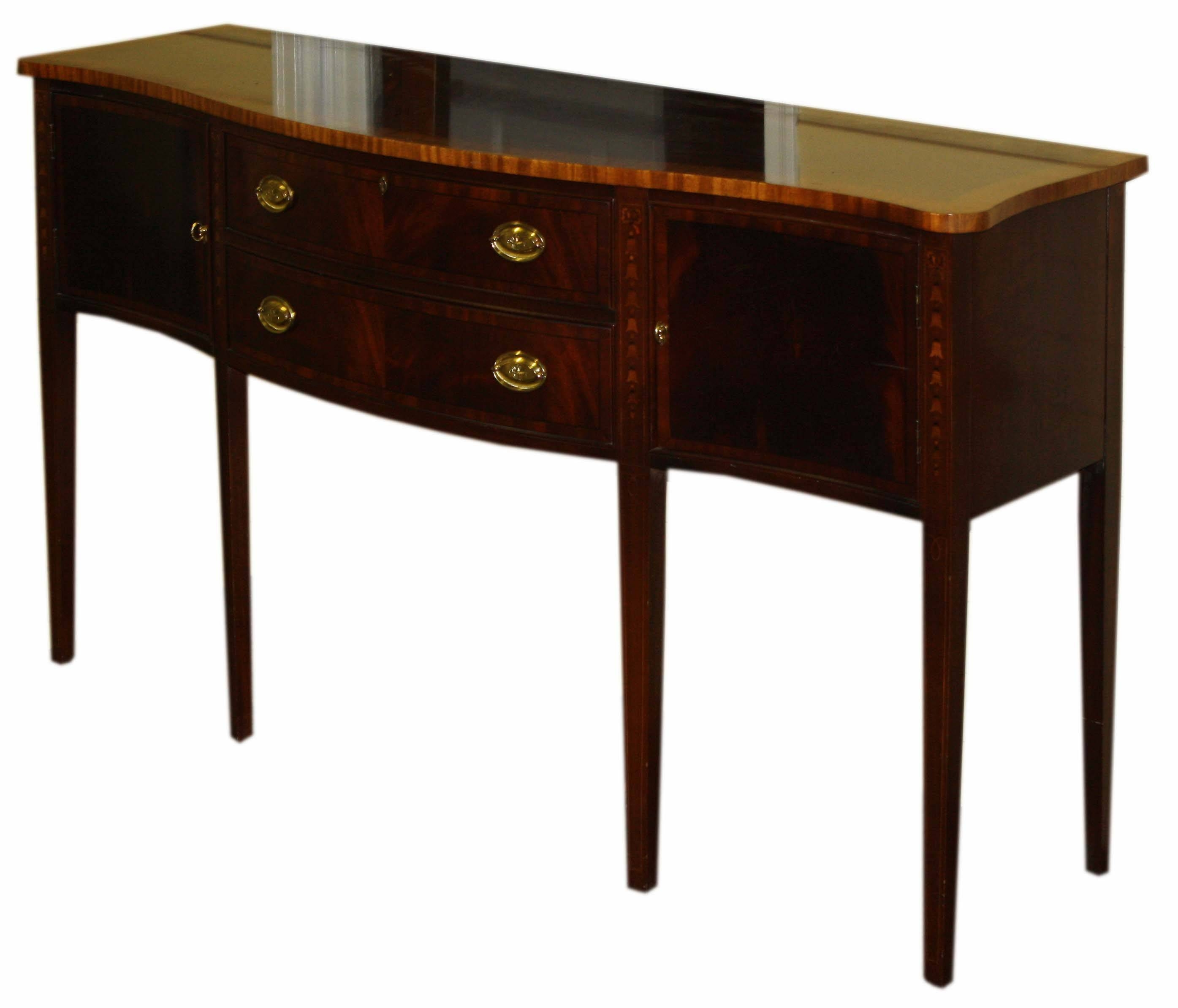 Ethan Allen Hepplewhite Mahogany Sideboard | Merrill's Auction For Most Recent Ethan Allen Sideboards (#4 of 15)