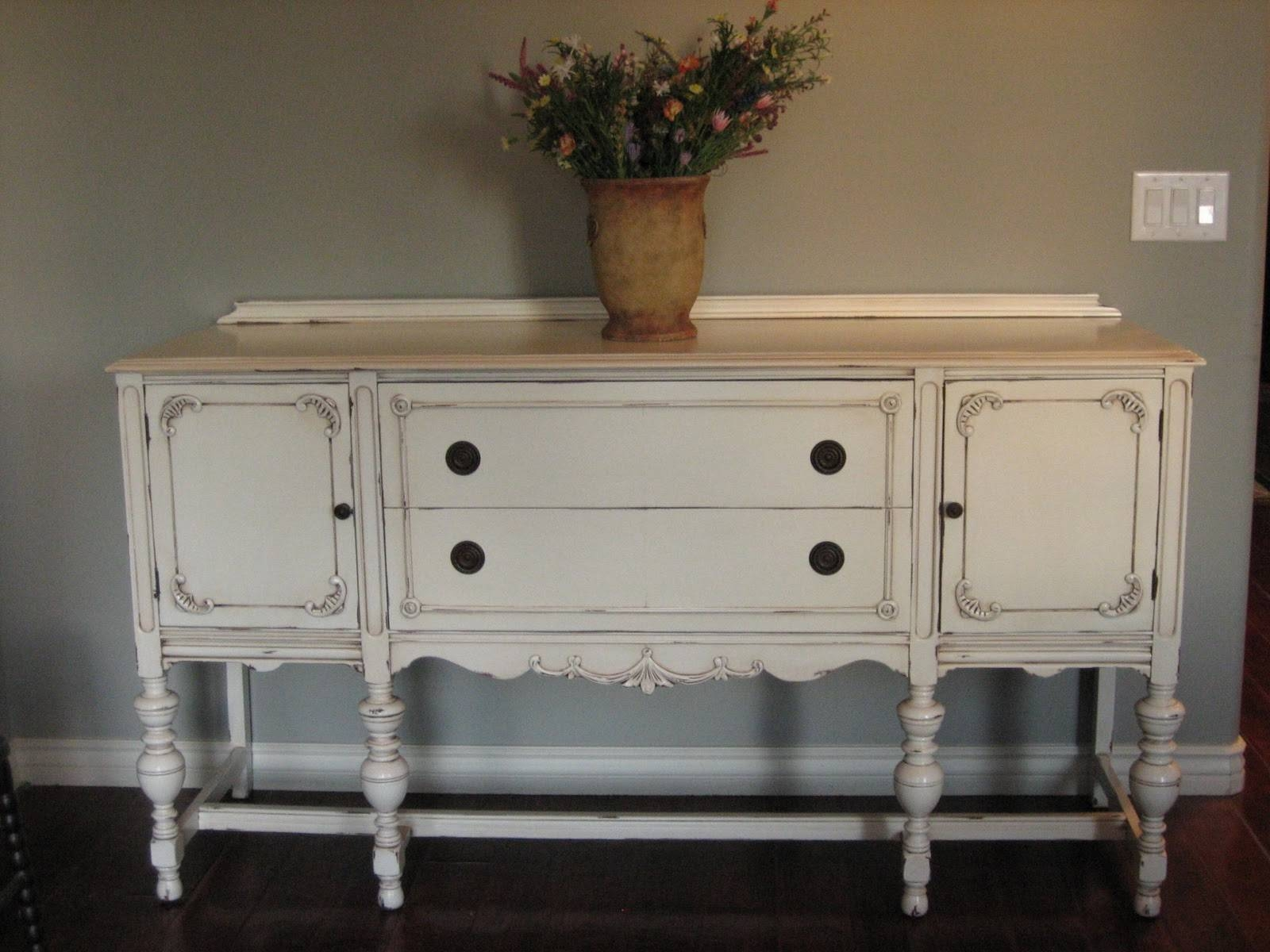 European Paint Finishes: ~ Another Pretty Antique Sideboard ~ Inside 2017 Painted Sideboards And Buffets (#3 of 15)