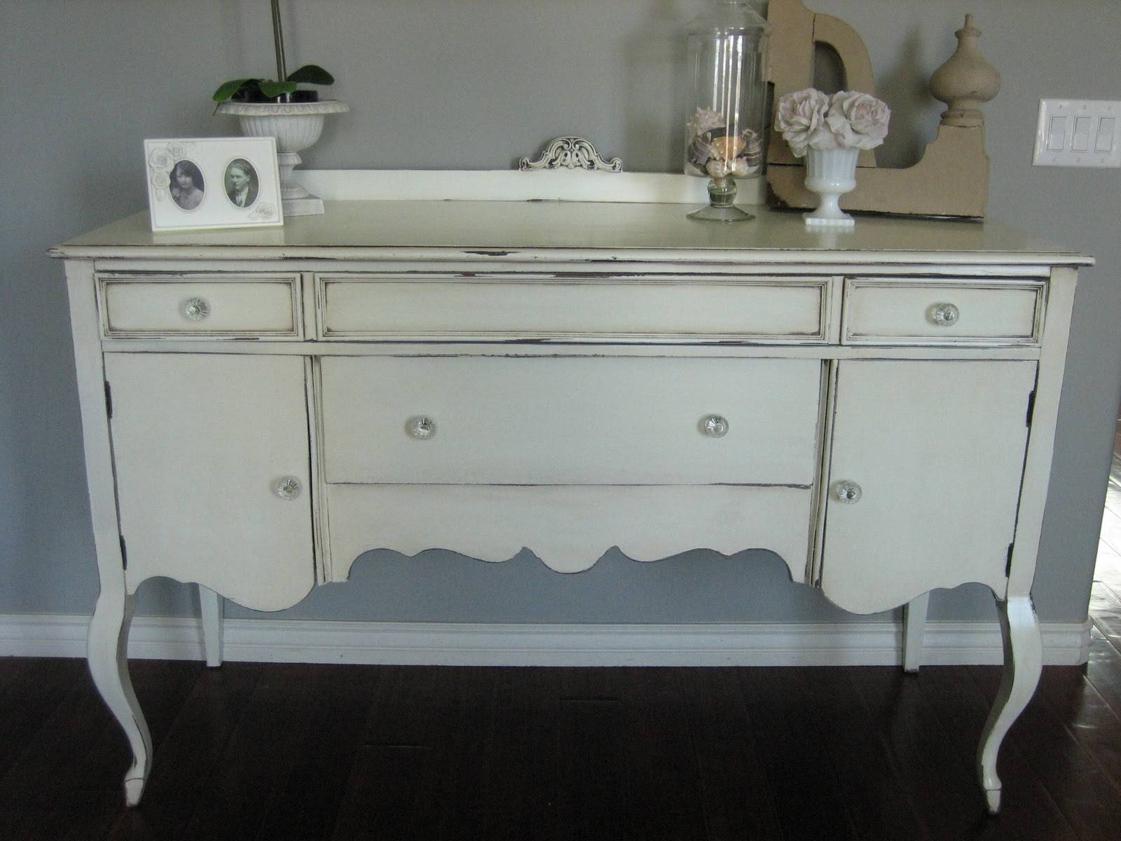 European Paint Finishes: ~ Shabby Chic Antique Sideboard ~ With Newest Shabby Chic Sideboards (#5 of 15)