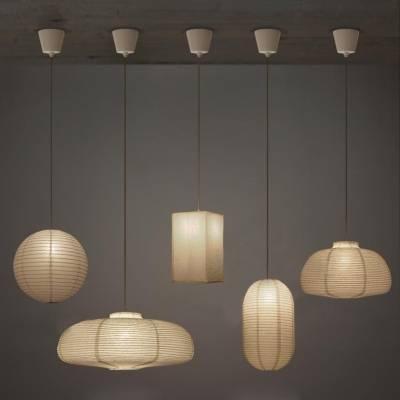Exclusive Paper Mini Pendant Light In Whitedesigner Inside Newest White Mini Pendant Lights (#3 of 15)