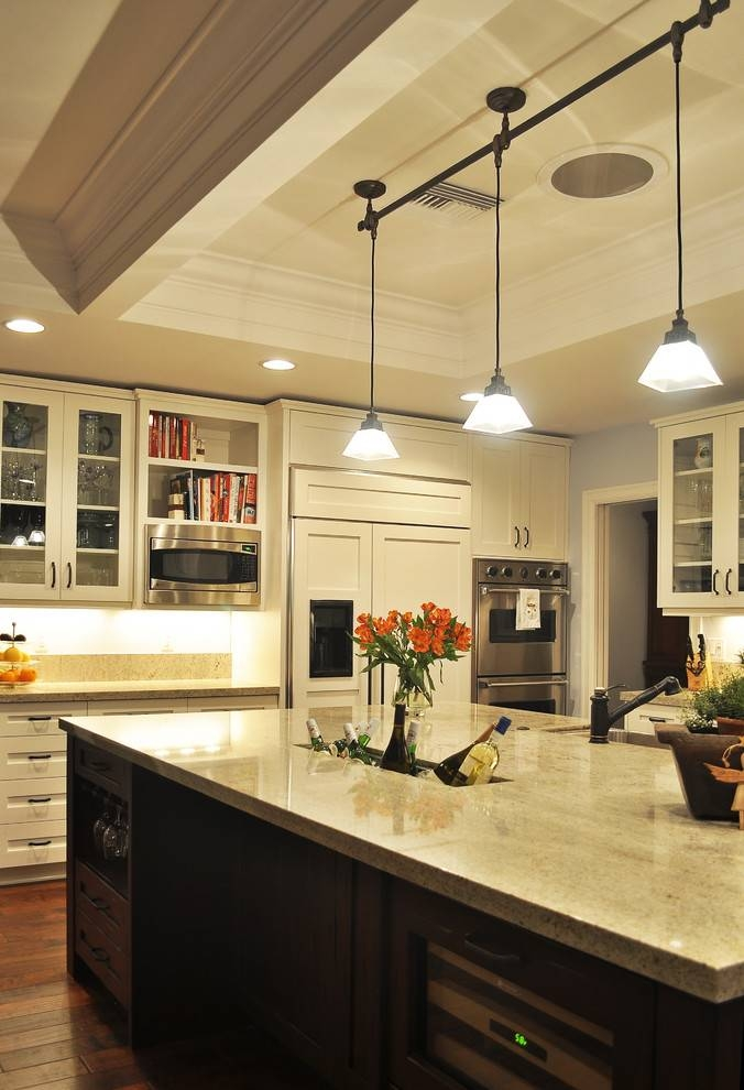 Extraordinary Kitchen Track Pendant Lighting Top Furniture Pendant Pertaining To Recent Kitchen Track Pendant Lighting (#3 of 15)