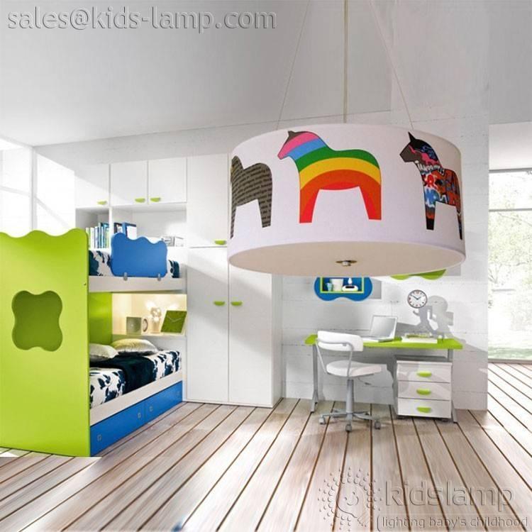Fancy Cartoon Horse Round Kids Nursery Pendant Lights   Kids Lamp Regarding Most Current Nursery Pendant Lights (View 11 of 15)