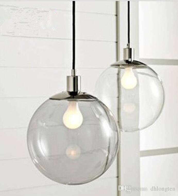 Popular Photo of Glass Ball Pendant Lights