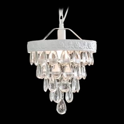 Popular Photo of Crystal Teardrop Pendant Lights