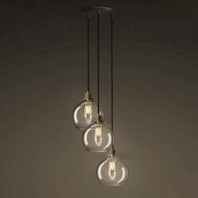 Fashion Style Globe, Foyer Pendant Industrial Lighting In Latest Clear Globe Pendant Lights (#4 of 15)