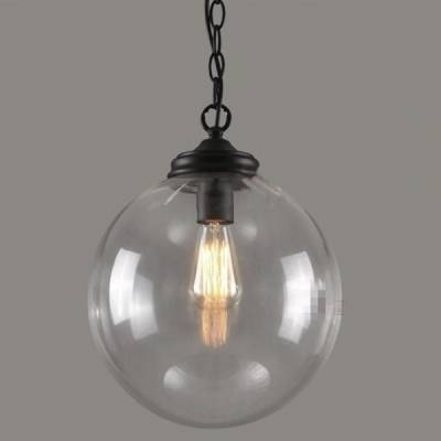 Fashion Style Pendant Lights, Globe Industrial Lighting With Regard To Most Popular Clear Glass Globe Pendant Light Fixtures (#3 of 15)