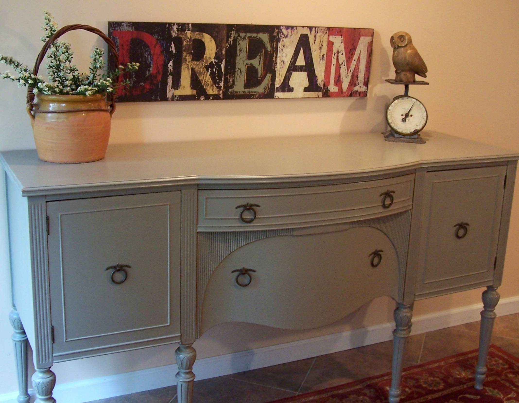 Federal Buffet In French Linen | Urban Farmhouse Finishes Inside Newest Painted Sideboards And Buffets (#5 of 15)