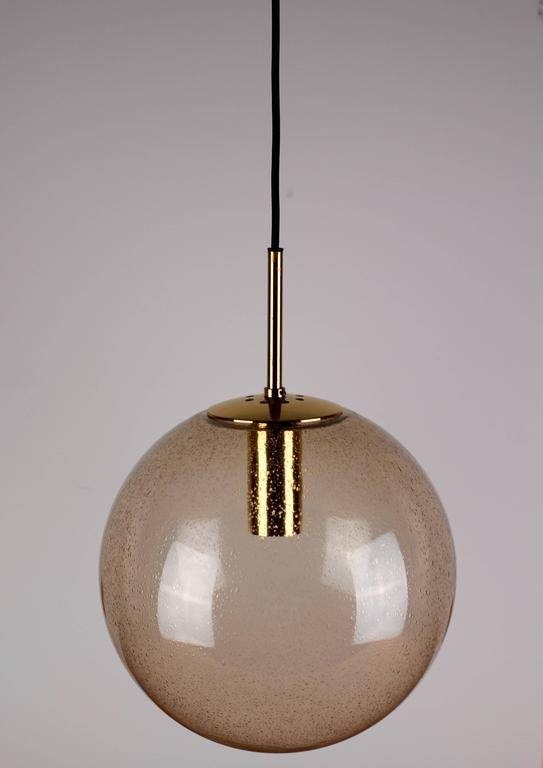 Five 1970S Spherical Smoked Glass Globe Pendant Lights Intended For 2017 Glass Ball Pendant Lights (#4 of 15)