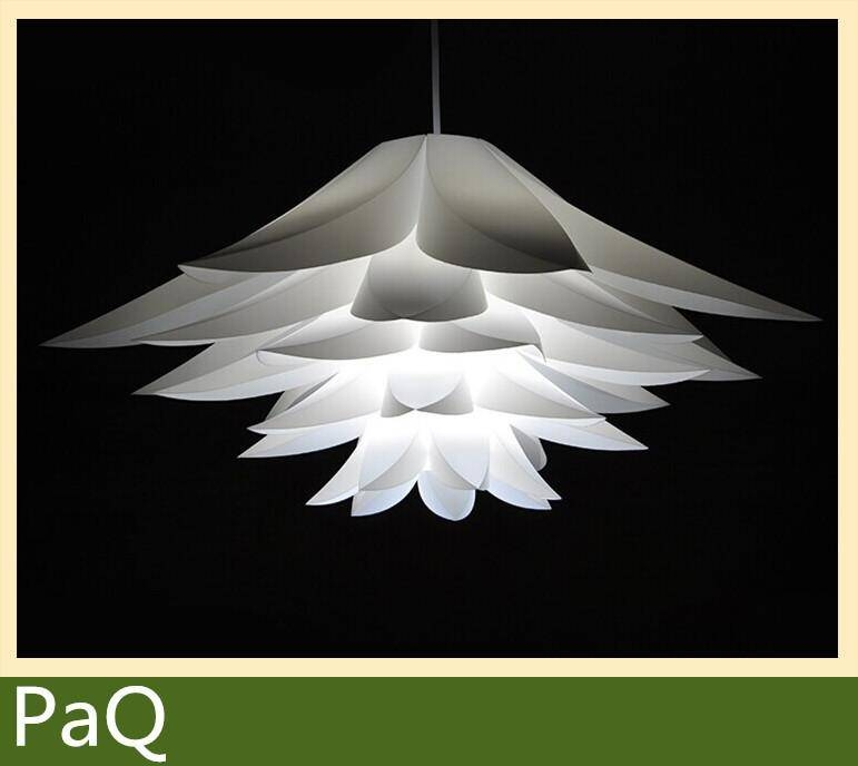 Flowers Lamp Pendant Light Pvc Diameter 58Cm Lotus Shape Diy Pertaining To Current Flower Pendant Lights (#8 of 15)