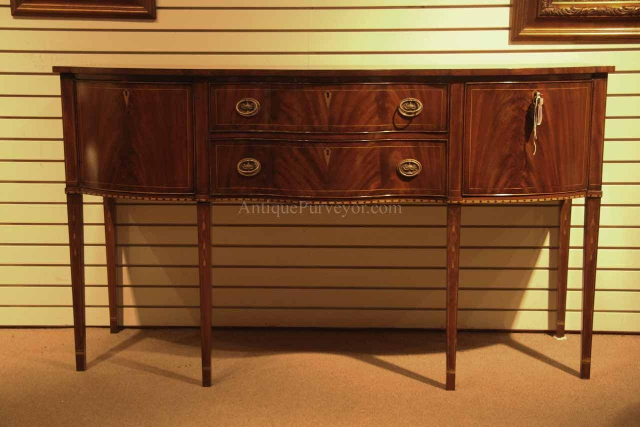 Formal Hepplewhite Style Mahogany Sideboard For The Dining Room Inside Most Recent Mahogany Sideboards Buffets (#2 of 15)