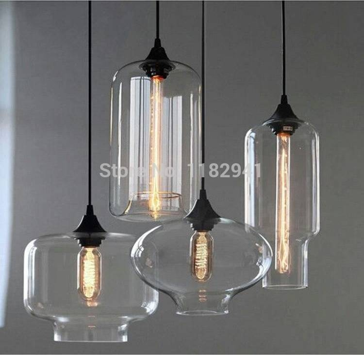 Free Shipping New Loft Style American Industrial Glass Jar Pendant Throughout Recent Industrial Glass Pendant Lights (#3 of 15)