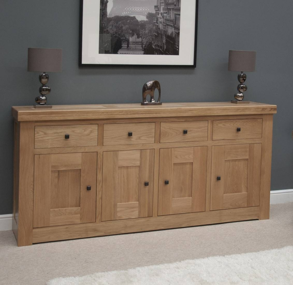 French Bordeaux Oak Extra Large 4 Door Sideboard | Oak Furniture Uk With Regard To Most Recent Solid Oak Sideboards (#6 of 15)
