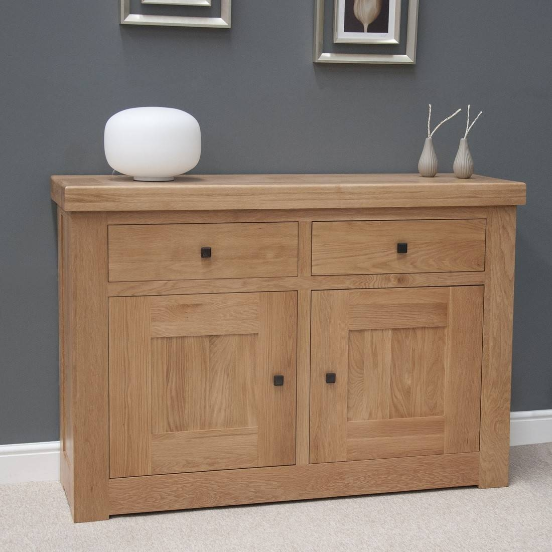 French Bordeaux Oak Small 2 Door Sideboard | Oak Furniture Uk Intended For Most Recently Released 2 Door Sideboards (#5 of 15)