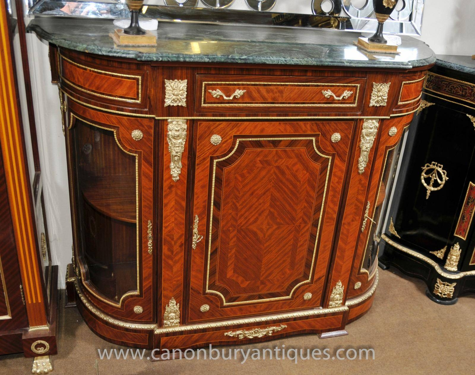 Inspiration about French Empire Cabinet Sideboard Kingwood Marble Top Credenza Regarding Recent Sideboards With Marble Tops (#7 of 15)