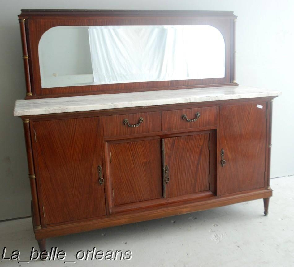 French Empire Sideboard/buffet Marble Top And Mirror !! For Sale Within 2018 Antique Marble Top Sideboards (#6 of 15)