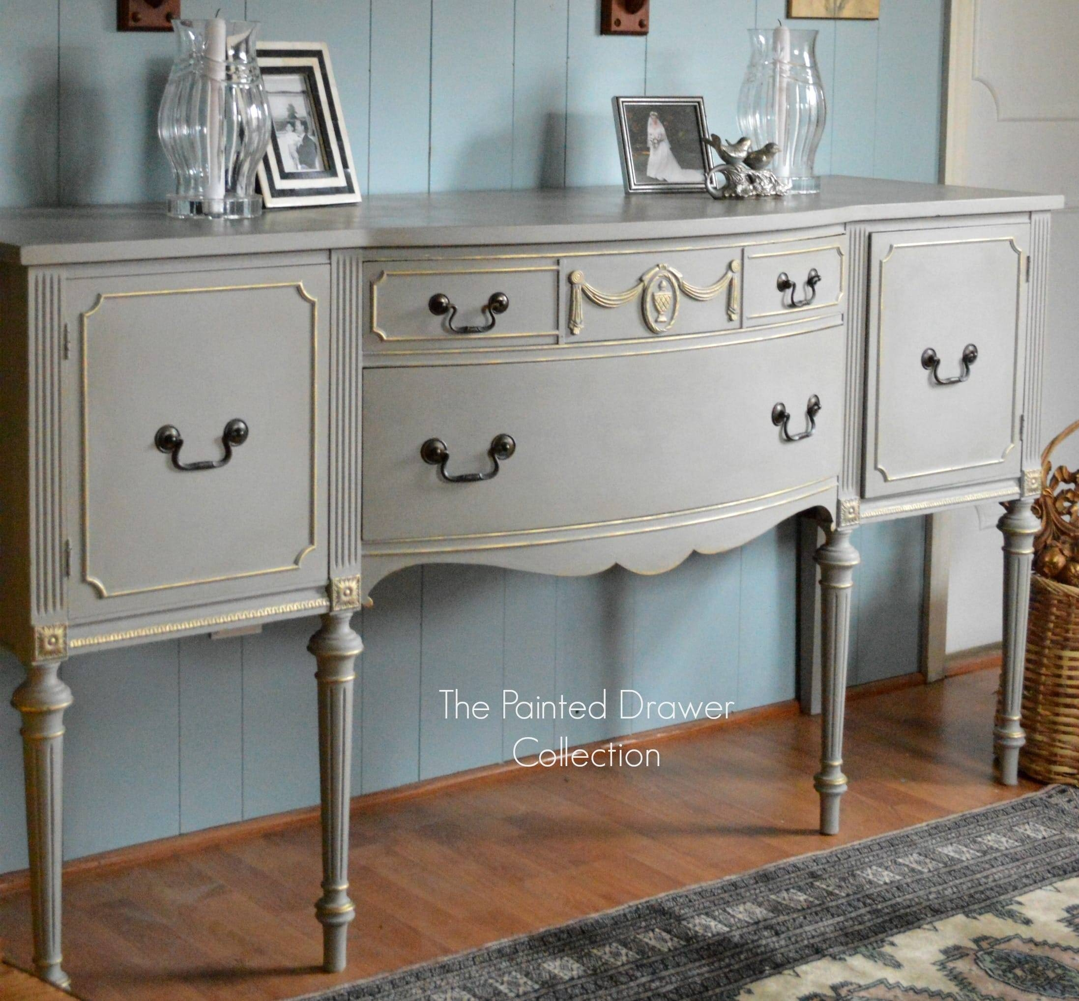 French Linen And Gold Sideboard Transformation – Before And After – In Most Current Annie Sloan Painted Sideboards (#5 of 15)