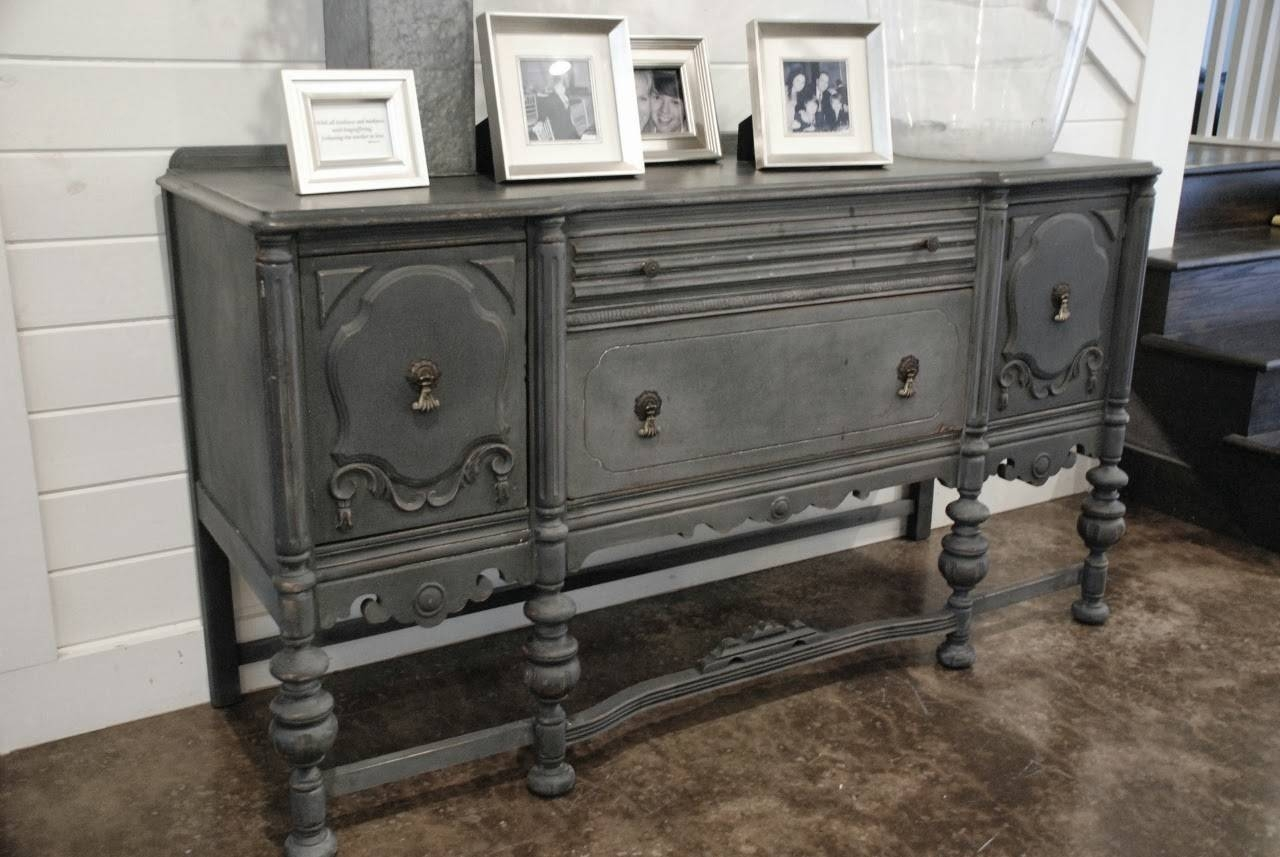 Furniture: Interesting Buffets And Sideboards For Home Furniture With Regard To Current Painted Sideboards And Buffets (#6 of 15)