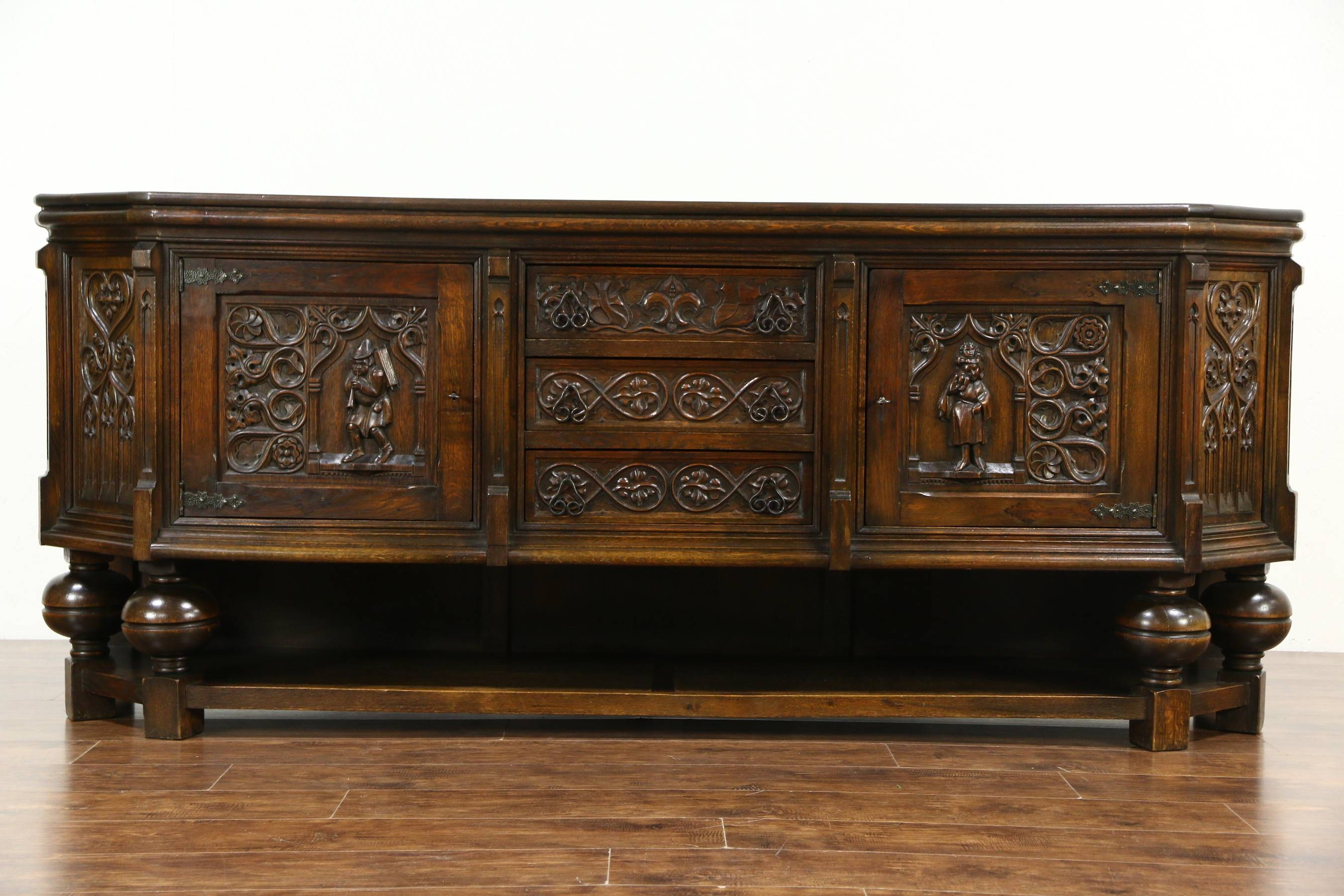 Furniture: Luxury Design Of Antique Credenza For Classy Home For Latest Second Hand Dressers And Sideboards (#5 of 15)