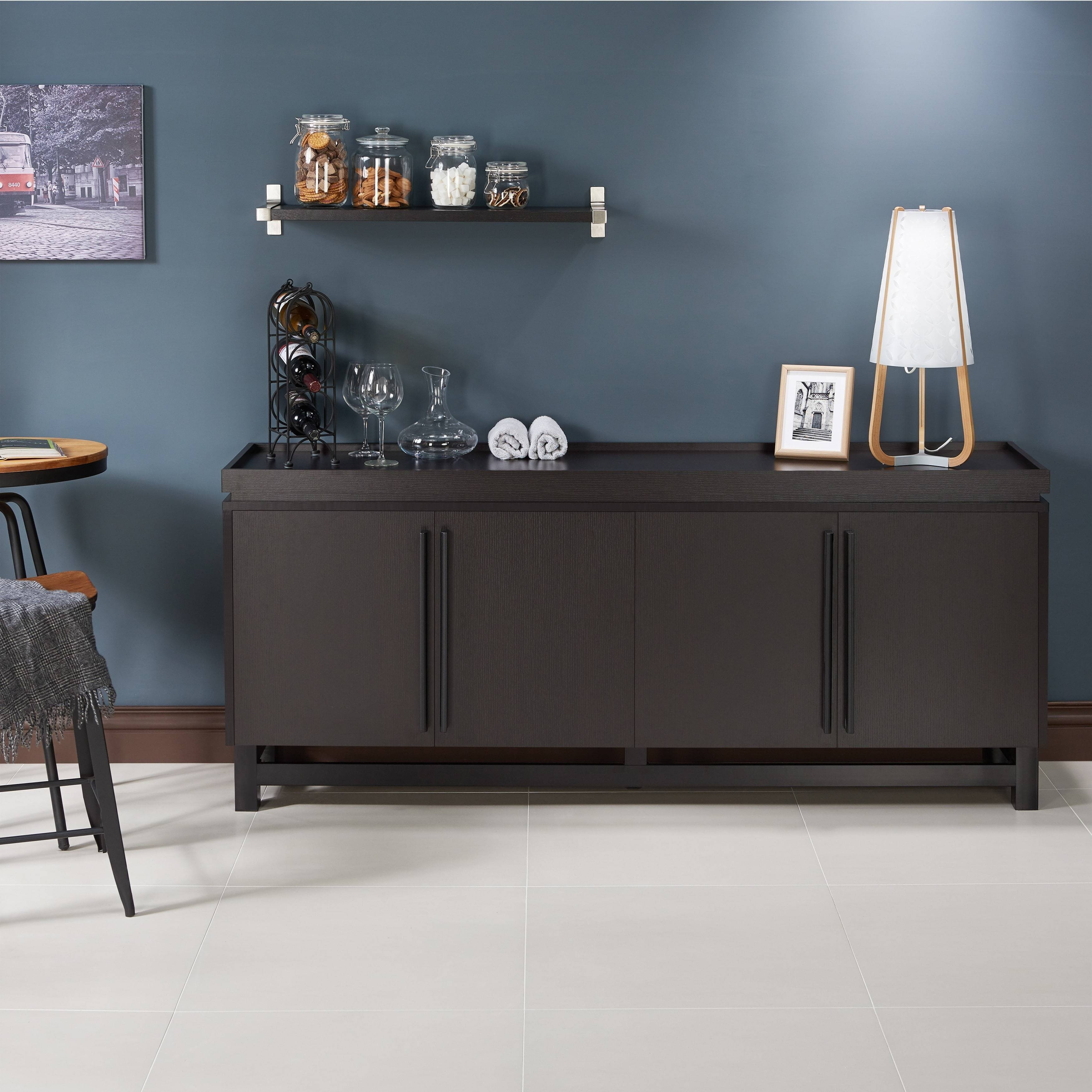 Furniture Of America Sonova Modern 70 Inch Buffet Cabinet – Free In Newest 70 Inch Sideboards (#3 of 15)