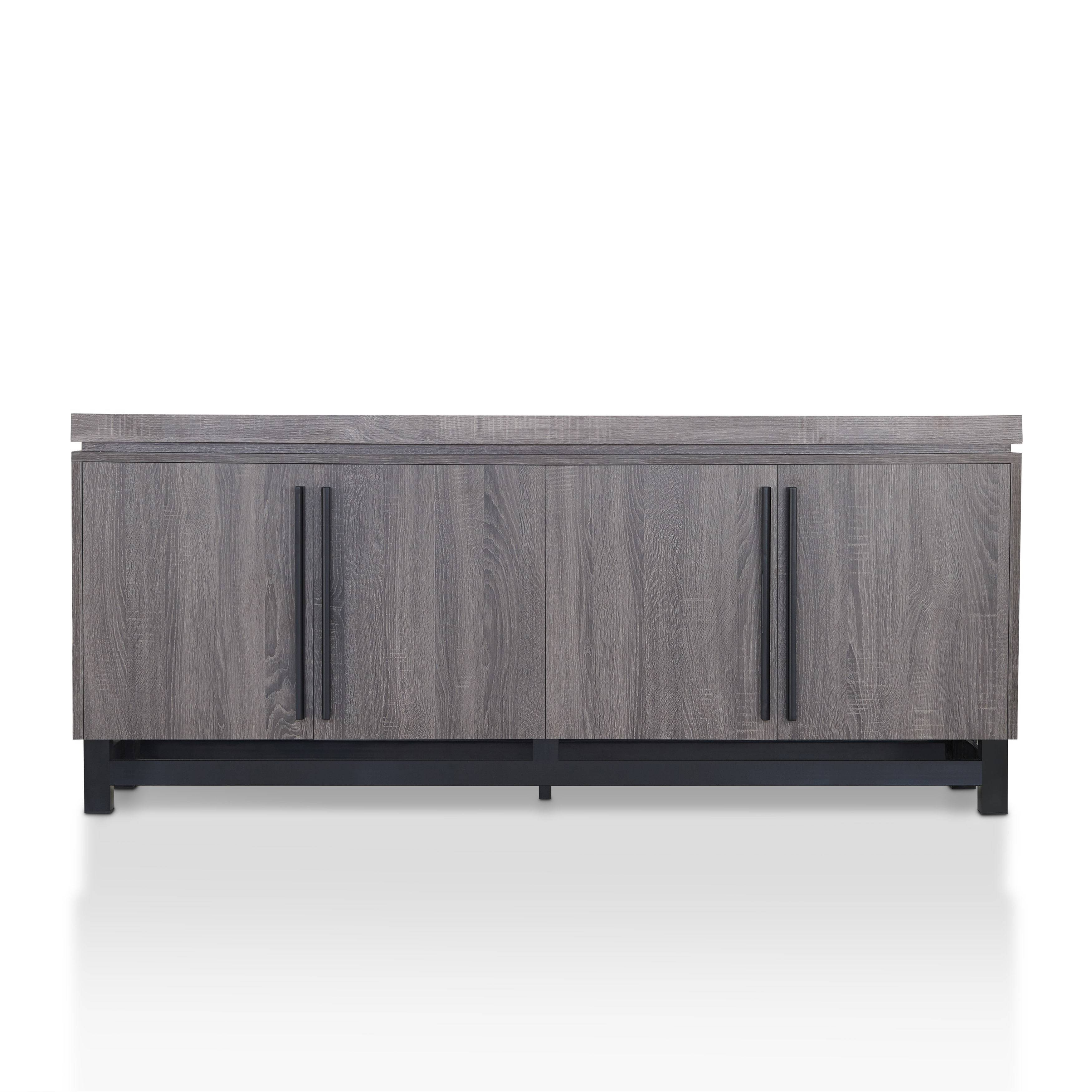 Furniture Of America Sonova Modern 70 Inch Buffet Cabinet – Free Inside Best And Newest 70 Inch Sideboards (#4 of 15)