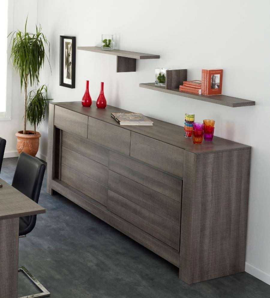 Furniture: Plain White Wall Paint Color Background With Modern Throughout Most Popular Black Brown Sideboards (#6 of 15)