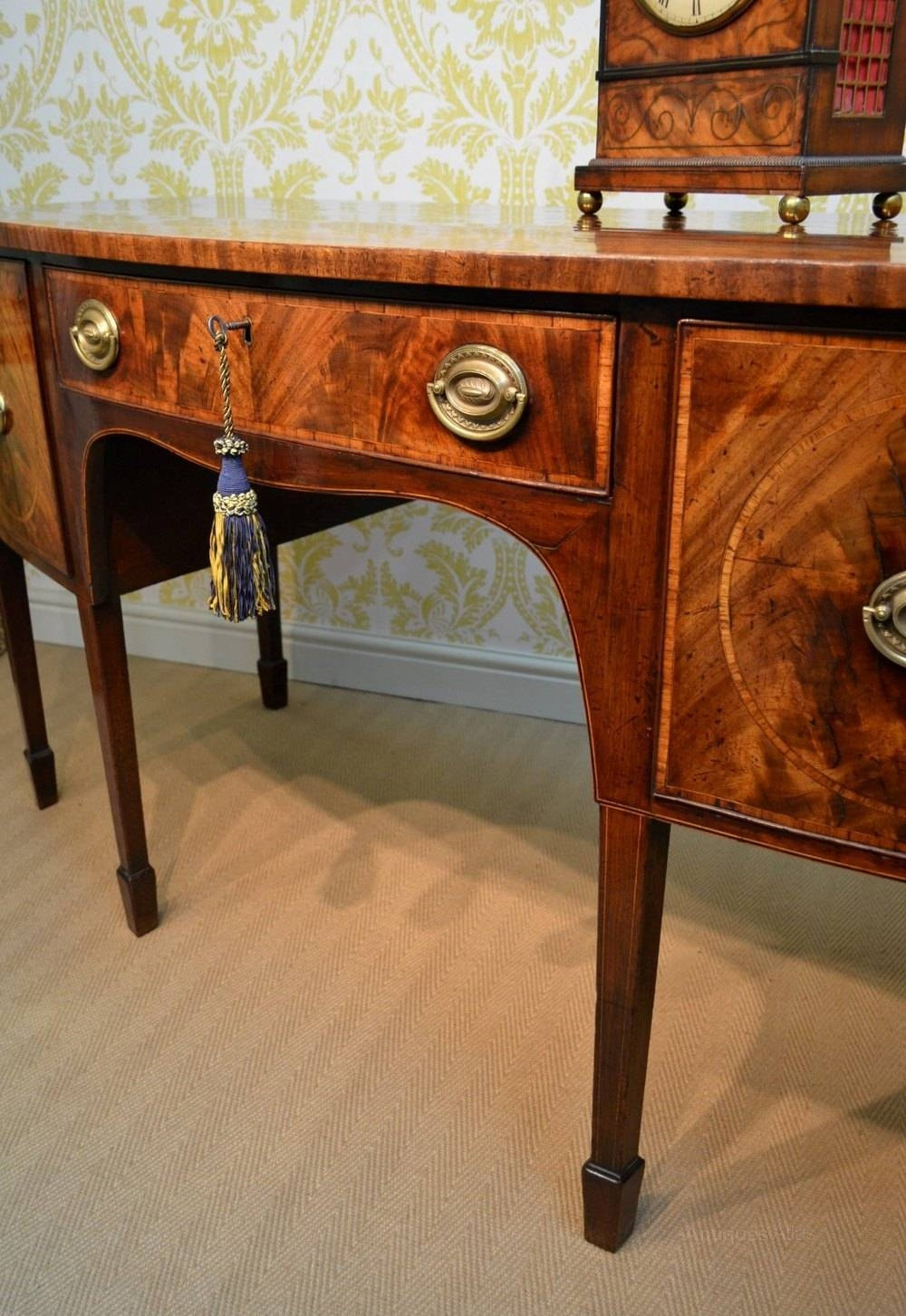 George Iii Mahogany Sideboard – Antiques Atlas Throughout Current Hepplewhite Sideboards (#7 of 15)
