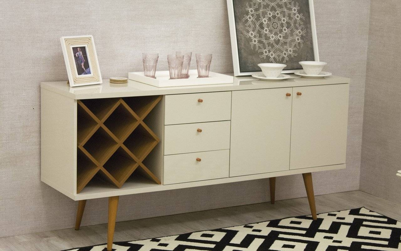 Inspiration about George Oliver Lemington Wine Rack Sideboard Buffet Table & Reviews Intended For Newest Sideboard Buffet Tables (#8 of 15)