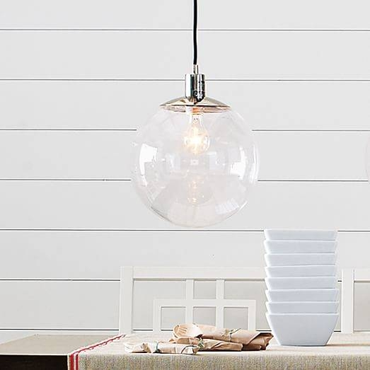 Inspiration about Globe Pendant – Clear | West Elm Throughout Most Popular Clear Globe Pendant Lights (#9 of 15)