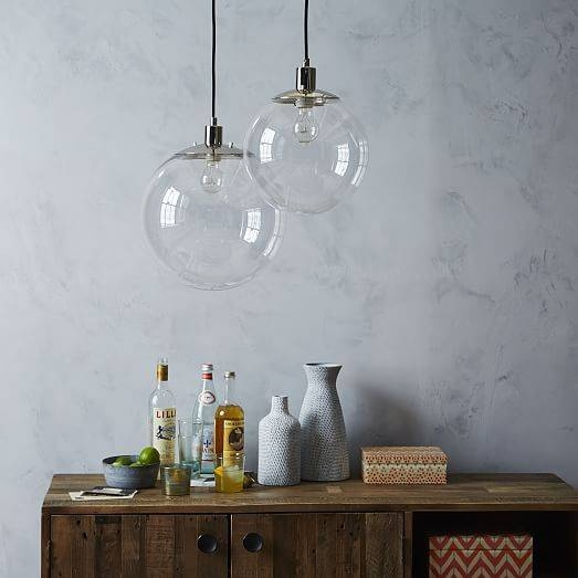 Inspiration about Globe Pendant – Clear | West Elm With Most Recent Clear Globe Pendant Lights (#6 of 15)