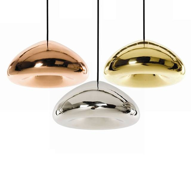 Inspiration about Gold/silver/copper Lampshade Glass Pendant Light Fixtures Modern Within Most Recently Released Gold Glass Pendant Lights (#6 of 15)