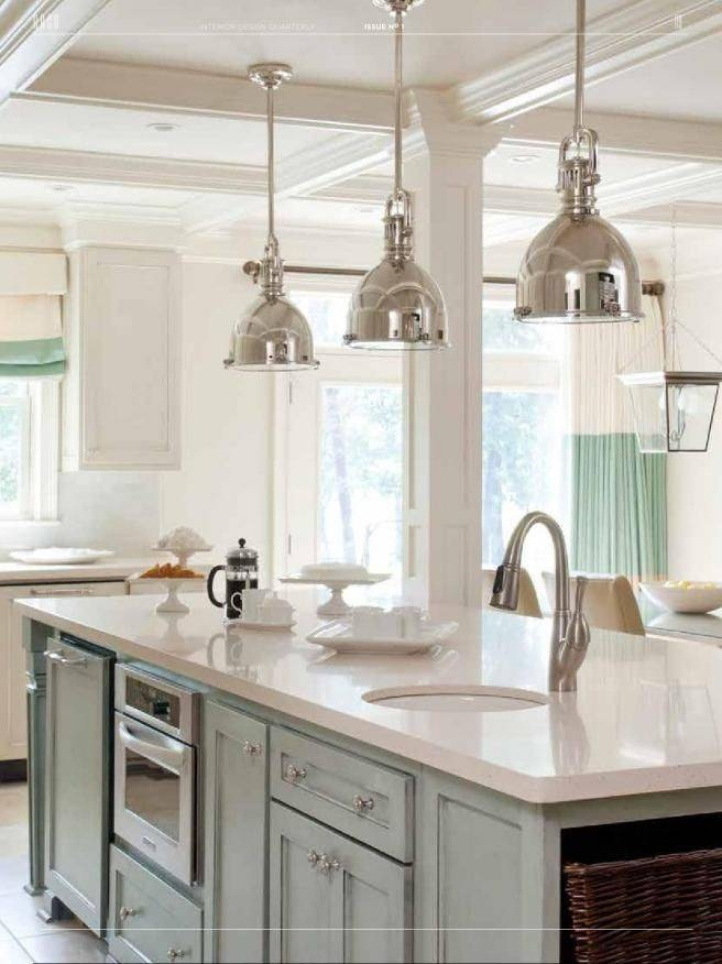Gorgeous Triple Pendant Chrome Kitchen Island Light 25 Best Ideas Regarding Recent 3 Pendant Lights For Kitchen Island (#7 of 15)