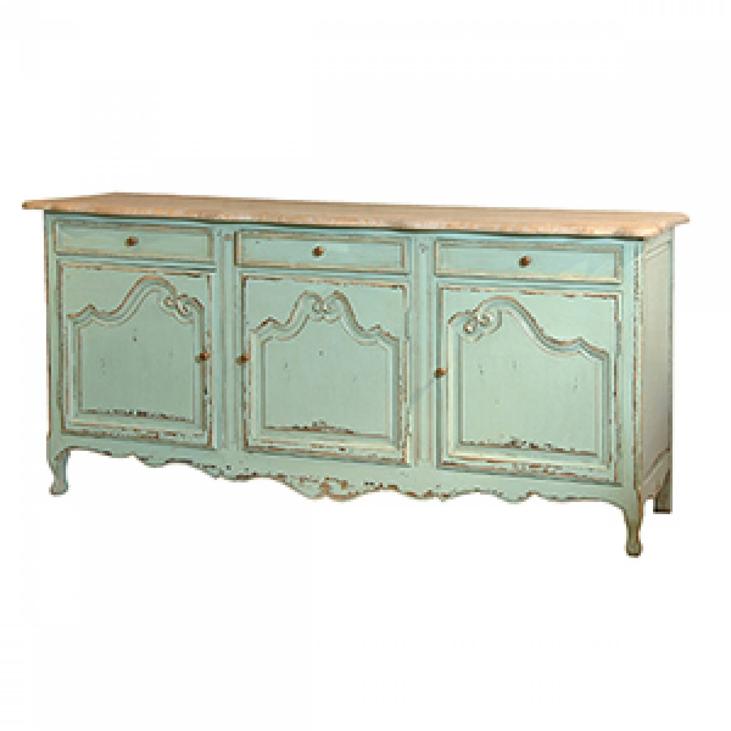 Inspiration about Green Distressed Sideboard In Display Units & Dressers Throughout Newest Green Sideboards (#5 of 15)