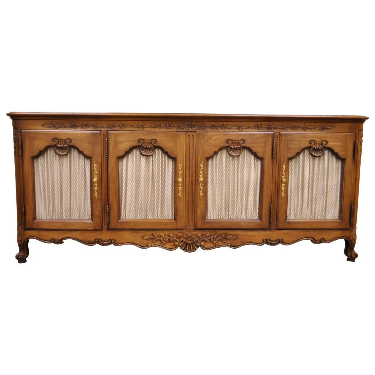 Hand Carved French Country Or Louis Xv Style Vintage Sideboard With Recent Vintage Sideboards (#4 of 15)