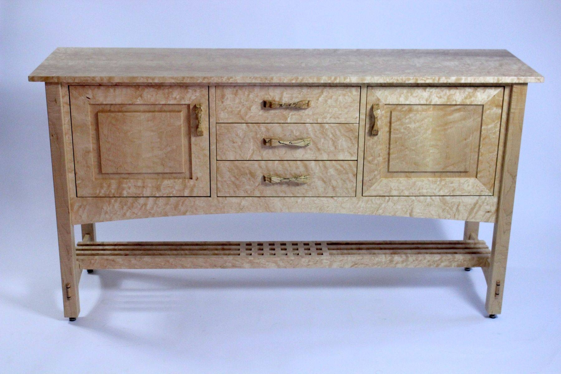 Hand Crafted Quilted Maple Arts And Crafts Sideboardberenguer Intended For Most Current Maple Sideboards (View 15 of 15)
