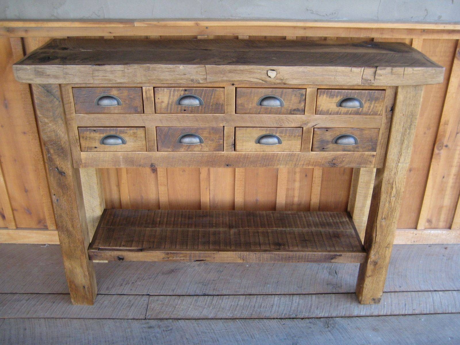 Handmade Reclaimed Chestnut Islands/buffetsunique Custom Inside Best And Newest Unique Sideboards And Buffets (#4 of 15)
