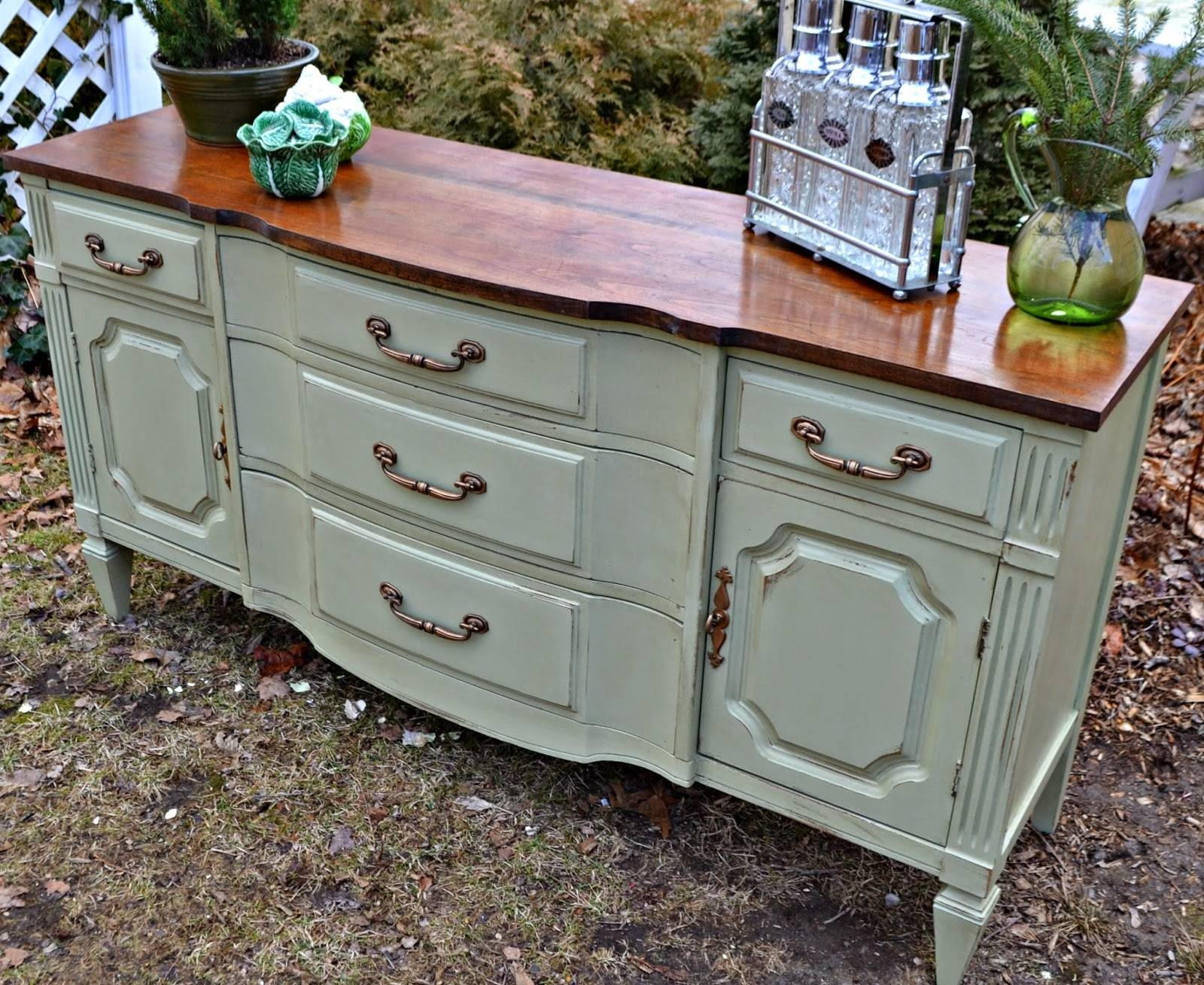 Heir And Space: A Mahogany Sideboard In Sage Green (#2 of 15)
