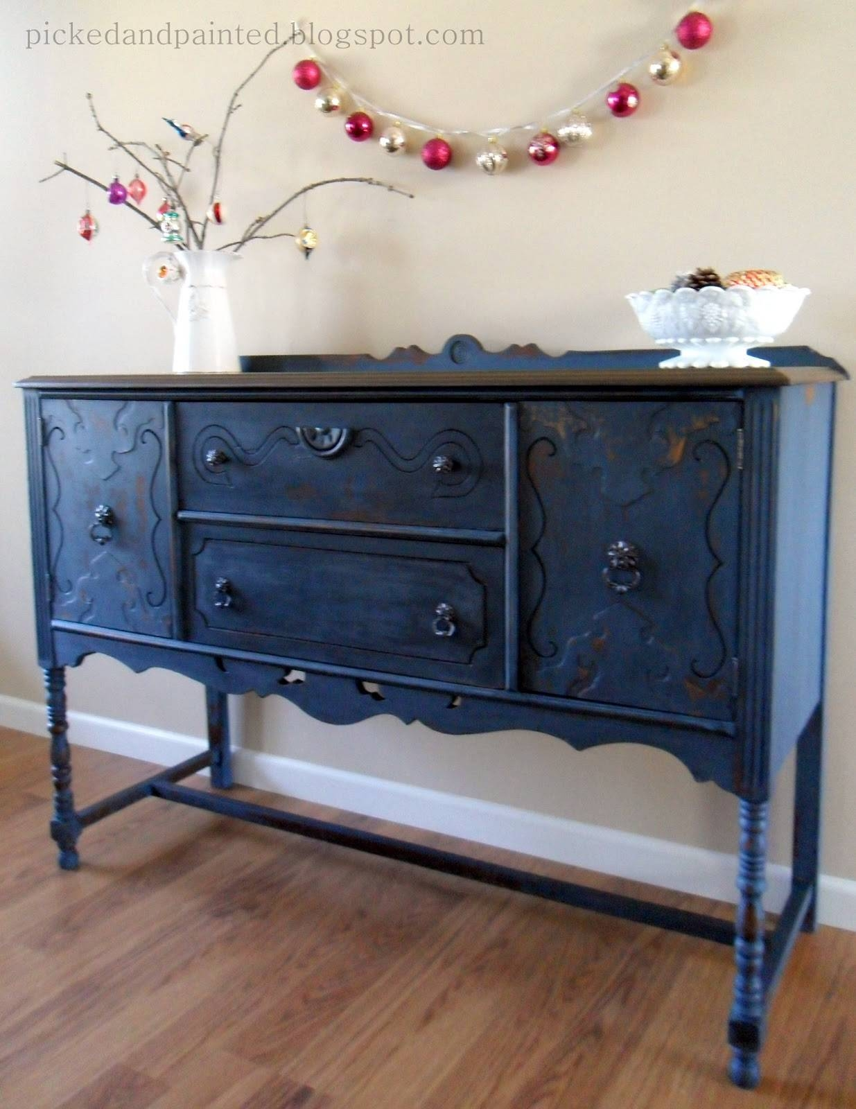 Helen Nichole Designs: Soldier Blue Buffet Regarding Recent Blue Buffet Sideboards (#9 of 15)