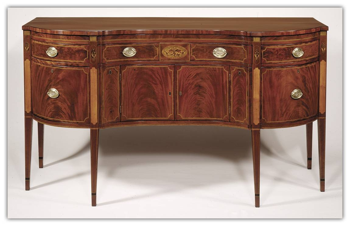 Hepplewhite Inlaid Mahogany Sideboard With Regard To Most Up To Date Hepplewhite Sideboards (#8 of 15)