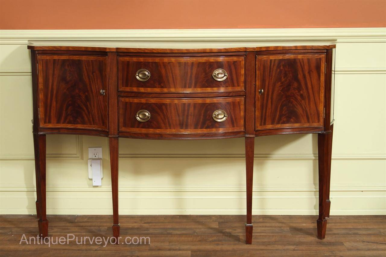 Hepplewhite Or Federal Sideboard, High End Furniture Intended For 2017 Mahogany Sideboards Buffets (#3 of 15)