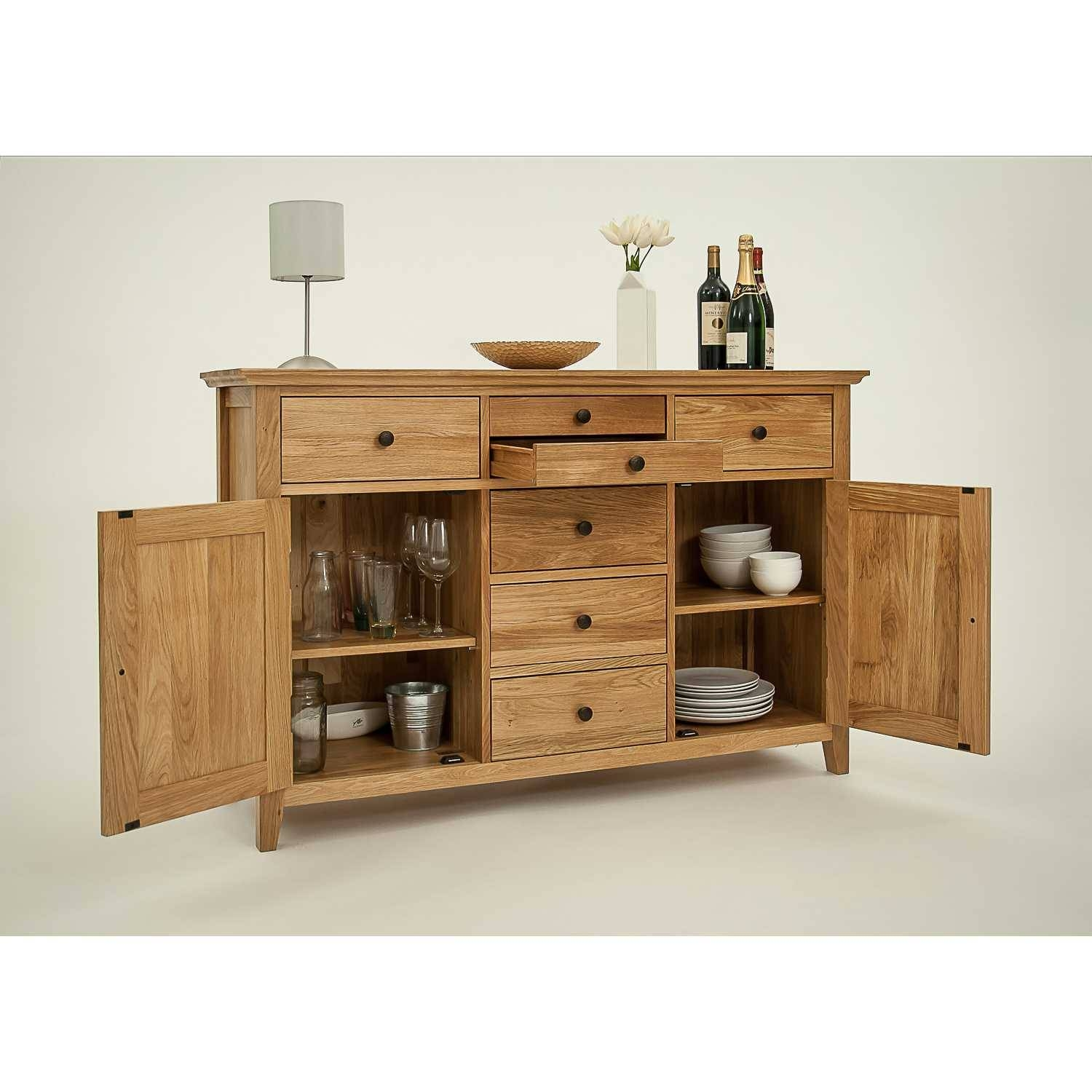 Hereford Rustic Oak Large Sideboard Within Best And Newest Rustic Oak Large Sideboards (#8 of 15)