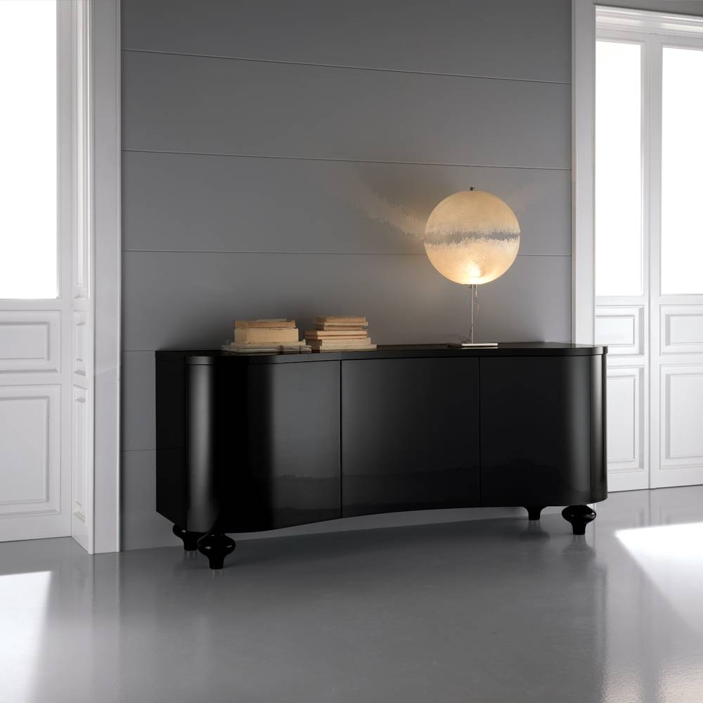 High End Designer Italian Black Buffet Sideboard   Juliettes For Most Recent Black Buffet Sideboards (View 5 of 15)