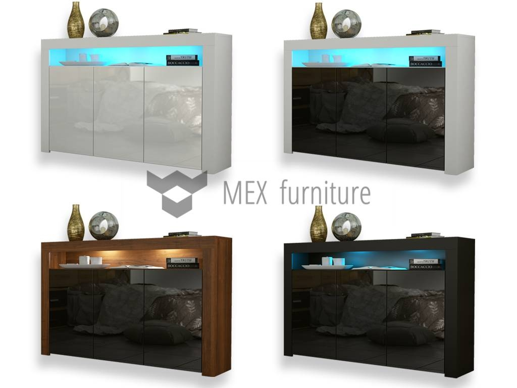 High Gloss Sideboard – Mex Furniture In Most Current Gloss Sideboard Furniture (#8 of 15)