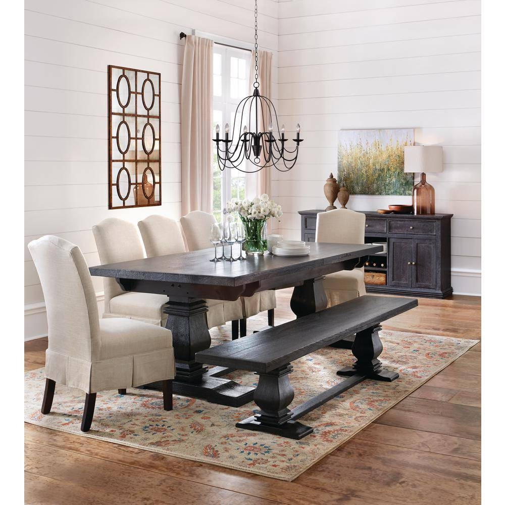 Home Decorators Collection Aldridge Antique Grey Buffet 9415000270 Within 2017 Dining Room Sets With Sideboards