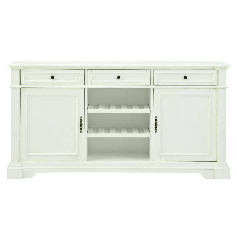 Home Decorators Collection Bufford Rubbed Ivory Buffet 9485000410 With Recent Green Sideboards (#4 of 15)