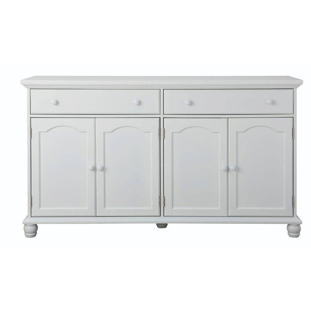 Home Decorators Collection Harwick Antique White Buffet Bf 23034 Pertaining To Most Recent Antique White Sideboards (#5 of 15)