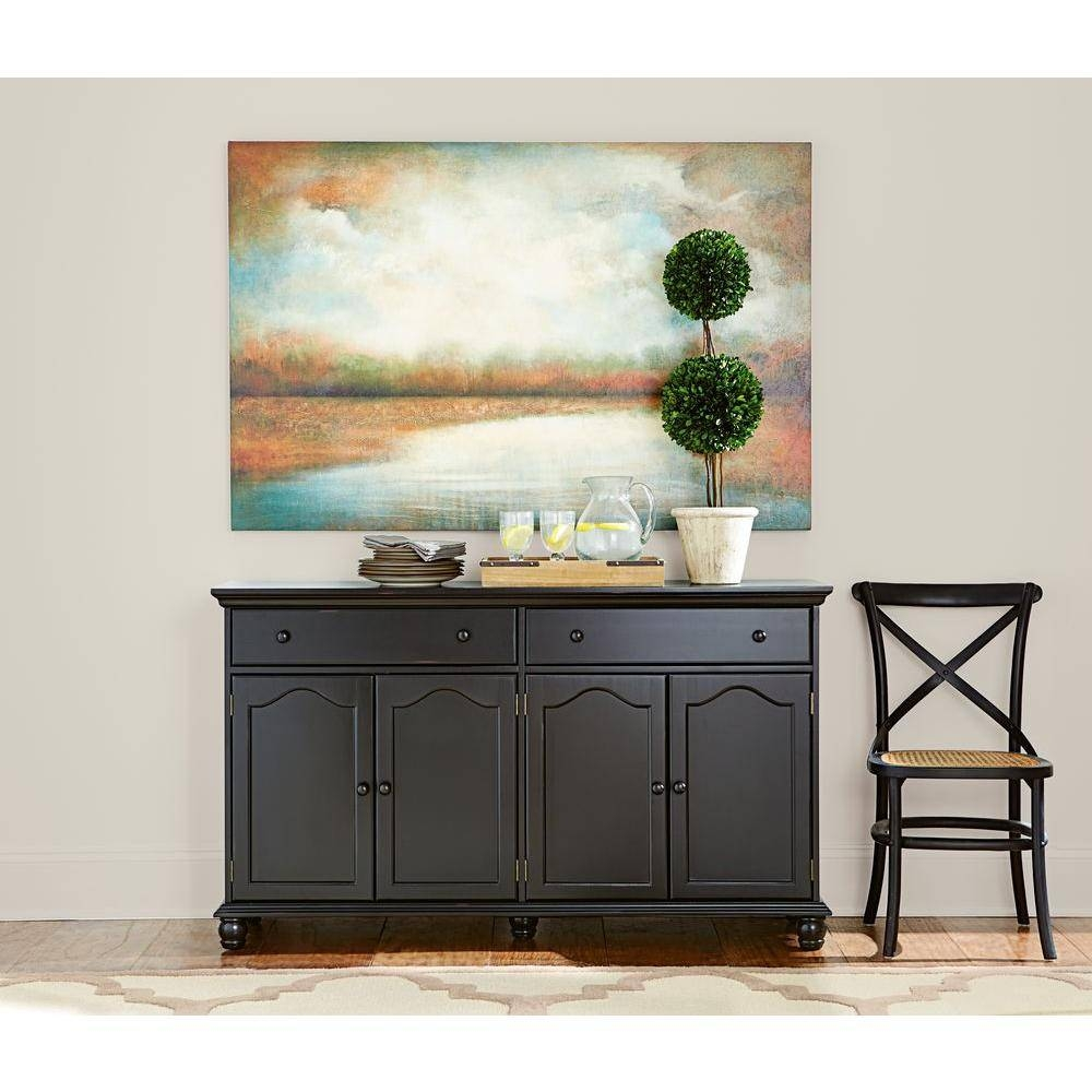 Home Decorators Collection Harwick Black Buffet Bf 23034 Bl – The For Best And Newest Black Sideboards And Buffets (#8 of 15)