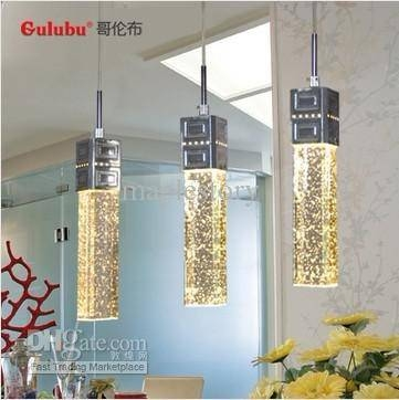 Hot!! Pendant Crystal Air Bubble Column Pendant Lamp Bar Lamp Inside Most Popular Bubble Pendant Light Fixtures (#5 of 15)