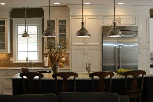 How Low Should The Pendant Lights Hang Over The Kitchen Island ? With Most Recent Island Pendant Light Fixtures (#2 of 15)
