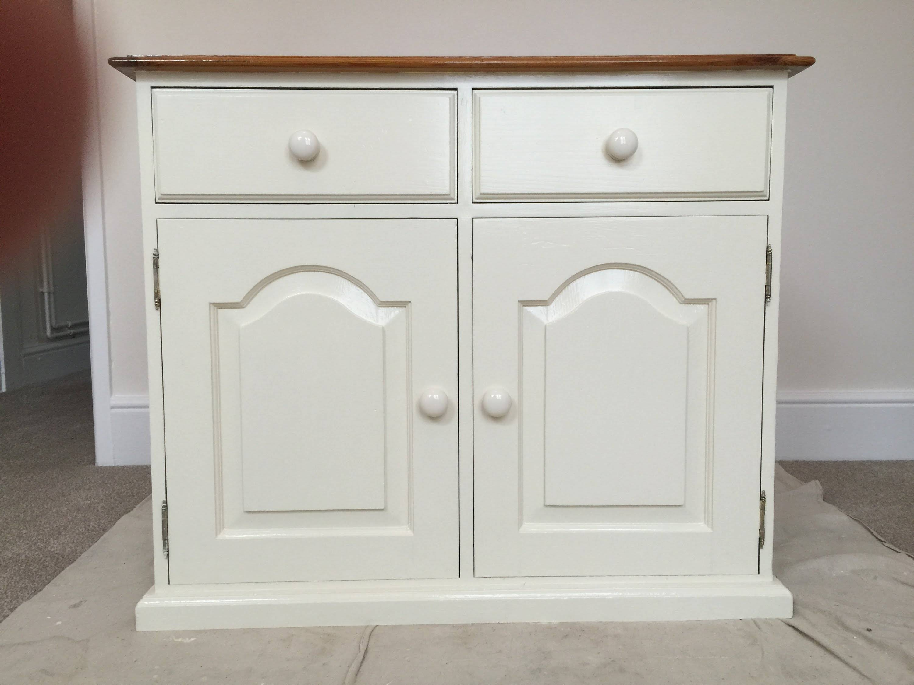How To Paint Old Pine Furniture, Restoration – Youtube Within Best And Newest White Pine Sideboards (#7 of 15)