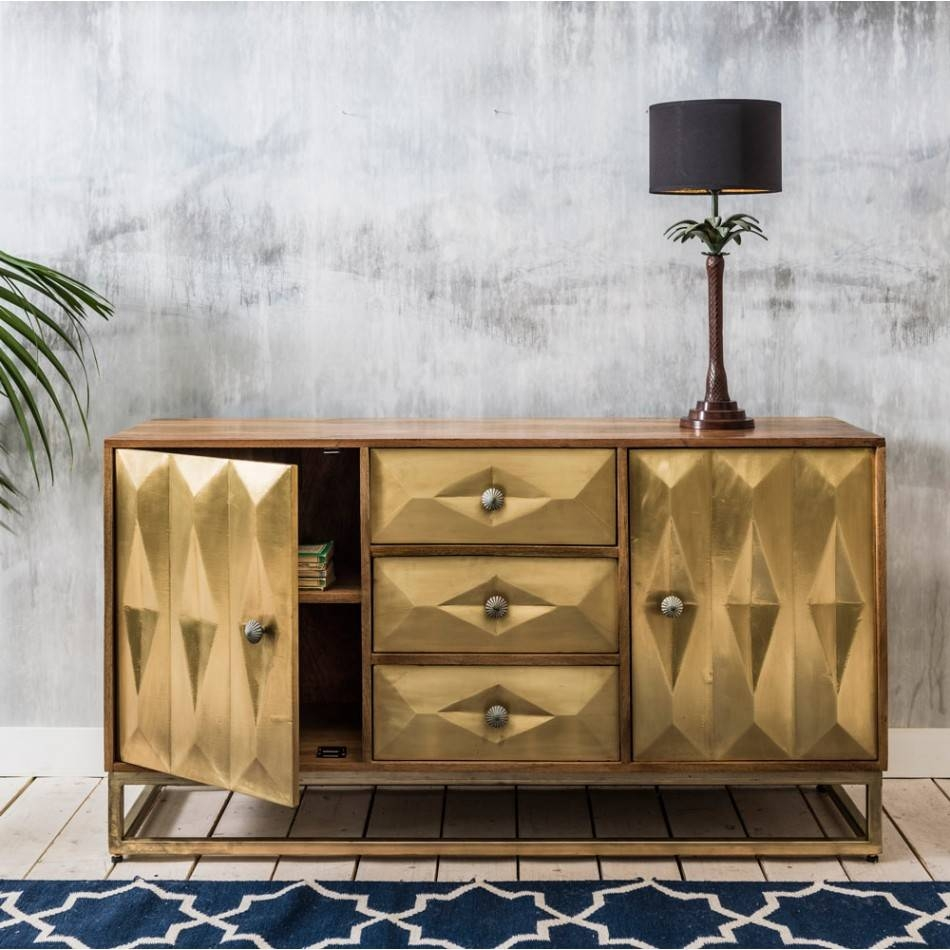 15 Ideas Of Gold Sideboards